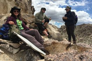 Students mapping the Kern Knob pluton