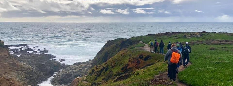 Hiking near the ocean